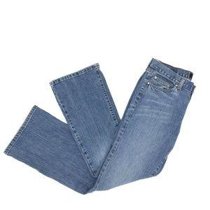 Calvin Klein Flare Wide Leg Jeans Sz 8 Medium Wash
